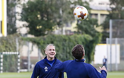 September 13, 2017 - Kiev, Ukraine - Dynamo Kyiv's player Domagoj Vida attends a training session in Kiev, Ukraine, on 13 September 2017. FC Dynamo Kyiv gets the last preparation before the game against Albanian Skenderbeu in the UEFA Europa League Group B opener. (Credit Image: © Sergii Kharchenko/NurPhoto via ZUMA Press)