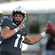 ORLANDO, FL - AUGUST 29: Dillon Gabriel #11 of the UCF Knights warms up during a NCAA football game between the Florida A&M Rattlers and the UCF Knights on August 29 2019 in Orlando, Florida. (Photo by Alex Menendez/Getty Images) *** Local Caption *** Dillon Gabriel
