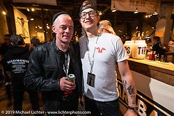 Craig Rodsmith and Michael Muller at the Handbuilt Show. Austin, TX. USA. Friday April 20, 2018. Photography ©2018 Michael Lichter.