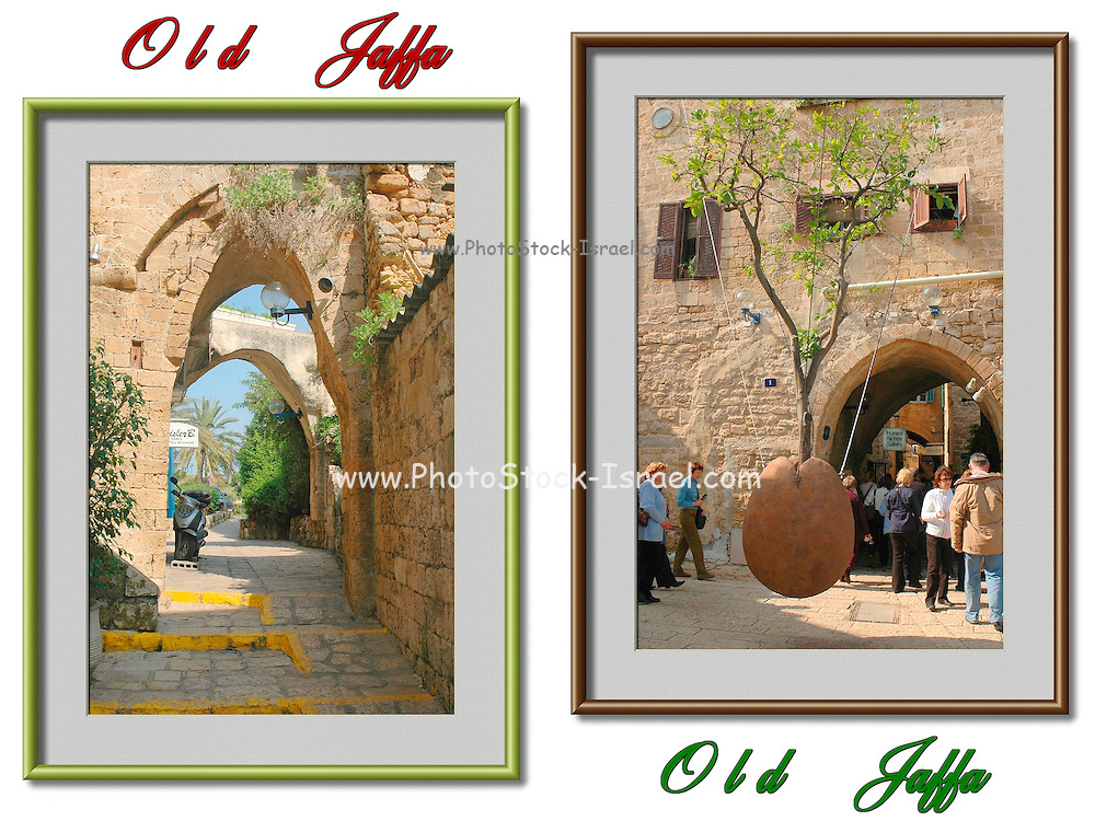 2 image collage of Jaffa, Israel, Colour manipulated