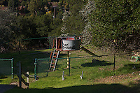 Playground at the abandoned Oak Knoll Navel Hospital in Oakland,California,USA.