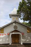 Church, Hokatu, Ua Huka, Marquesas Islands, French Polynesia<br />
