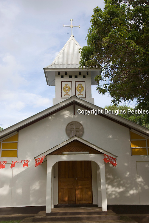 Church, Hokatu, Ua Huka, Marquesas Islands, French Polynesia<br />