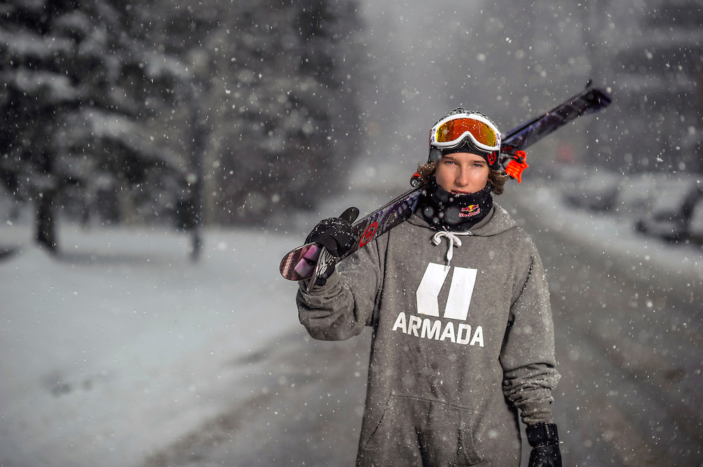 Torin Yater-Wallace poses for a portrait at the RedBull Performance Camp in Aspen Colorado, United States on April 14th, 2013