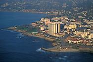 Sunset aerial over La Jolla,+Northern San Diego Coastline San Diego County, CALIFORNIA