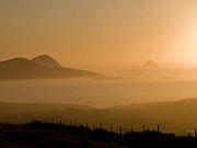 Sunset over The Blasket Islands in County Kerry, Ireland.<br /> Photo Don MacMonagle