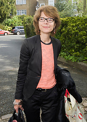 Vicky Pryce, former minister Chris Huhne's ex wife arrives at her London home after being released from prison, London, UK, Monday May 13, 2013. Photo by: i-Images