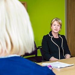 Pictured: Shona Robison<br /> <br /> Under pressure Health Secretary Shona Robison visited the Healthy Living Centre in Edinburgh's Wester Hailes today and annnounced details of funding for nurse training to expand community care. <br /> <br /> Ger Harley | EEm 30 April 2018
