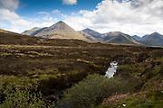 The Isle of Skye, View of mountains, Isle of Skye, Scotland, UK