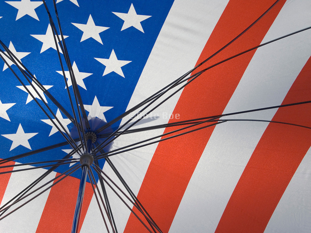 inside of an American flag umbrella