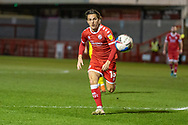 Crawley Town forward Tom Nichols (#16)  chases the ball during the EFL Sky Bet League 2 match between Crawley Town and Walsall at The People's Pension Stadium, Crawley, England on 16 March 2021.