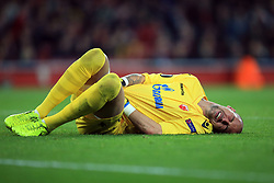 2 November 2017 -  UEFA Europa League (Group H) - Arsenal v Red Star Belgrade - Milan Borjan of Red Star Belgrade reacts after being caught in the mid drift - Photo: Marc Atkins/Offside
