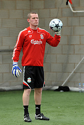 LIVERPOOL, ENGLAND - Tuesday, May 12, 2009: Ex-Liverpool youth team goalkeeper Paul Harrison during a training session at Melwood as the players prepare for the Hillsborough Memorial Game in aid of the Marina Dalglish Appeal which will be staged at Anfield on May 14. (Photo by Dave Kendall/Propaganda)