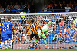 Hull City's Allan McGregor fails to stop a shot from Chelsea's Frank Lampard to concede the 2nd goal  - Photo mandatory by-line: Mitchell Gunn/JMP - Tel: Mobile: 07966 386802 18/08/2013 - SPORT - FOOTBALL - Stamford Bridge - London -  Chelsea v Hull City - Barclays Premier League