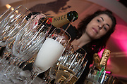 Photographing the Pouring of Champagne at a Conference event in Edinburgh