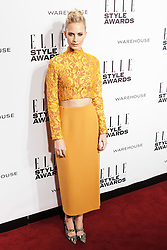 © Licensed to London News Pictures. 18/02/2014. London, UK. Poppy Delevingne attends the ELLE Style Awards 2014 at One Embankment in central London. Photo credit : Andrea Baldo/LNP