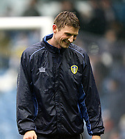 Photo: Paul Greenwood/Sportsbeat Images.<br />Leeds United v Huddersfield Town. Coca Cola League 1. 08/12/2007.<br />Leeds United's Tore Andre Flo during the pre-game warm up