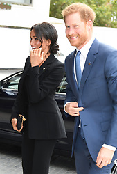 Prince Harry The Duke of Sussex and Meghan Duchess of Sussex arriving at the WellChild Awards, The Royal Lancaster Hotel, London