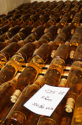 Bottles aging in the cellar. Vin de Table, table wine. Domaine Pascal Jolivet, Sancerre, Loire, France