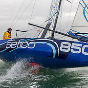 Championnat de France de la Classe Mini:Transgascogne entre Port Bourgenay et Luanco en Espagne 2013/ Le départ de Bourgenay