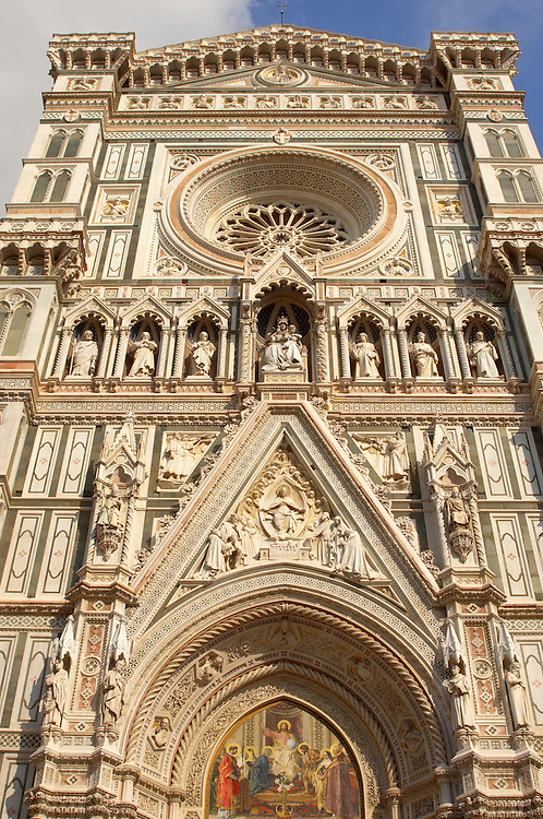 The Dome Cathederal - Detail Of facade  ; Florence Italy .<br /> <br /> Visit our ITALY PHOTO COLLECTION for more   photos of Italy to download or buy as prints https://funkystock.photoshelter.com/gallery-collection/2b-Pictures-Images-of-Italy-Photos-of-Italian-Historic-Landmark-Sites/C0000qxA2zGFjd_k<br /> .<br /> <br /> Visit our MEDIEVAL PHOTO COLLECTIONS for more   photos  to download or buy as prints https://funkystock.photoshelter.com/gallery-collection/Medieval-Middle-Ages-Historic-Places-Arcaeological-Sites-Pictures-Images-of/C0000B5ZA54_WD0s