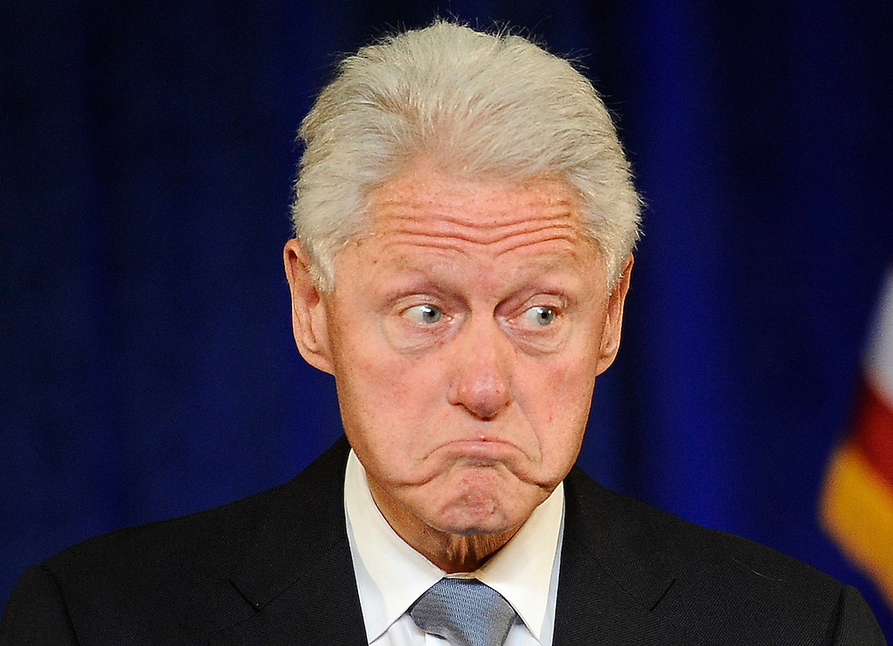 Former President Bill Clinton speaks at a rally for Gov. Dannel P. Malloy, in Hartford, Conn. (AP Photo/Jessica Hill)