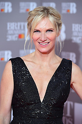 Jo Whiley in the press room during the Brit Awards at the O2 Arena, London.