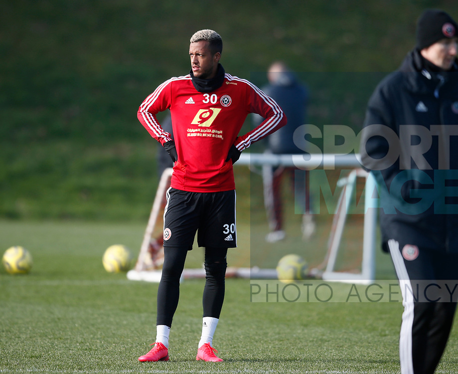 Richairo Zivlovic of Sheffield Utd during the Press Conference & Training at the Steelphalt Academy, Sheffield. Picture date: 7th February 2020. Picture credit should read: Simon Bellis/Sportimage