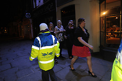 Volunteer Street Angels patrol the town centre of Skipton to help drinkers and vulnerable members of the community. Street Angels are a mixed group of people from Churches Together, who aim to offer a presence on the street and near pubs to offer assistance to those who have concerns about their health or safety