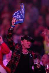 Keith Flint Singer of The Prodigy during day four of the William Hill World Darts Championships at Alexandra Palace, London. PRESS ASSOCIATION Photo. Picture date: Sunday December 16, 2018. Photo credit should read: Ian Walton/PA Wire