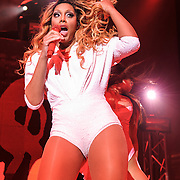 """SILVER SPRING, MD - May 22nd, 2014 - Tamar Braxton performs at the Fillmore Silver Spring in Silver Spring, MD. Braxton's music career has taken off after being featured on WE tv reality show """"Meet The Braxtons,"""" which lead to her own spin-off show """"Tamar & Vince.""""  (Photo by Kyle Gustafson / For The Washington Post)"""