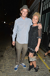 JAIME WINSTONE and JAMES SUCKLING at a party to celebrate the opening of the jeweller Ara Vartanian's Flagship Store 44 Bruton Place, London on 7th September 2016.