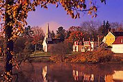 Image of a pastoral fall scene near Rockport, Maine, American Northeast by Andrea Wells