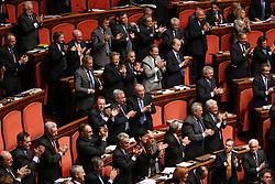 30.09.2010, Senat, Rom, ITA, Der italienische Regierungschef Silvio Berlusconi entscheidet auch die zweite Vertrauensabstimmung innerhalb von 24 Stunden für sich. Im Bild Senato - Voto di Fiducia, dichiarazioni del Presidente del Consiglio sulla crisi... EXPA Pictures © 2010, PhotoCredit: EXPA/ InsideFoto/ Serena Cremaschi +++++ ATTENTION - FOR AUSTRIA AND SLOVENIA CLIENT ONLY +++++. .