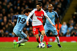 Bernardo Silva of Monaco takes on Leroy Sane of Manchester City - Mandatory by-line: Matt McNulty/JMP - 21/02/2017 - FOOTBALL - Etihad Stadium - Manchester, England - Manchester City v AS Monaco - UEFA Champions League - Round of 16 First Leg