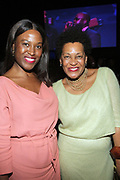 NEW YORK, NEW YORK-JUNE 4: (L-R) Curator/Writer/Model Nicki Vassell and Photographic Artist Carrie Mae Weems attend the 2019 Gordon Parks Foundation Awards Dinner and Auction Inside celebrating the Arts & Social Justice held at Cipriani 42nd Street on June 4, 2019 in New York City. (Photo by Terrence Jennings/terrencejennings.com)