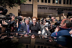 © London News Pictures. 05/06/2013. London, UK. REBEKAH BROOKS (centre), Former CEO of News International and former editor of the News of The World leaving Southwark Crown Court in London after pleading not guilty charges relating to phone hacking at the News of The World. . Photo credit: Ben Cawthra/LNP