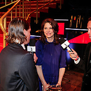 NLD/Utrecht/20121005- Gala van de Nederlandse Film 2012, Rifka van Lodeizen word geinterviewd door Teun Kuilboer en Robert de Hoog