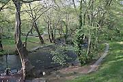 Greece, Macedonia, Naousa, Agios Nikolaos (Saint Nicolas) Park formed by the Arapitsa river