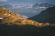 Sunlight on Mountain Slope |  Mountain tundra around Troms, Norway