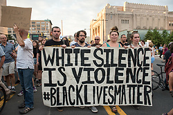 August 16, 2017 - Philadelphia, Pennsylvania, U.S - POWER clergy and laity, (Philadelphians Organized to Witness Empower and Rebuild) organized and marched with thousands through the streets  in Philadelphia PA to protest against the violence and hated that took place in Charlottesville. (Credit Image: © Ricky Fitchett via ZUMA Wire)