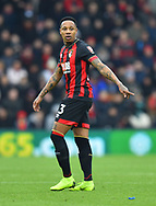 Nathaniel Clyne (23) of AFC Bournemouth points during the The FA Cup 3rd round match between Bournemouth and Brighton and Hove Albion at the Vitality Stadium, Bournemouth, England on 5 January 2019.