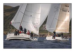 Largs Regatta Week - August 2012.Round the Island Race..FRA 37296,  Salamander XXI,  John Corson, GBR7667R,  Now or Never 3,  Neill Sandford