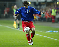 Fotball , 08. oktober 2005 , VM-kvalifisering , Norge - Moldova 1-0<br /> Norway - Moldova<br /> Serghei Dadu Moldova