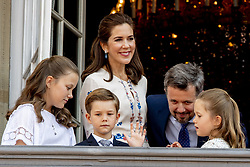Crown Prince Frederik, Crown Princess Mary, Princess Isabella, Prince Vincent and Princess Josephine celebrate 50th birthday of Crown Prince Frederik at the royal palace in Copenhagen, Denmark, on May 26, 2018. Photo by Robin Utrecht/ABACAPRESS.COM
