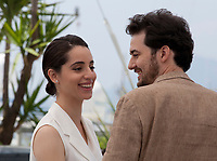 Director A.B. Shawky and Producer Dina Emam at the Yomeddine film photo call at the 71st Cannes Film Festival, Thursday 10th May 2018, Cannes, France. Photo credit: Doreen Kennedy