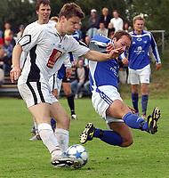 Fotball 2. divisjon 27.08.05 - Ranheim - Mo 4-2<br /> Pål Flønes i scoringssituasjon for Mo<br /> Foto: Carl-Erik Eriksson, Digitalsport