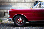 Vintage Mercedes Benz on the street of Moabit, Berlin, Germany