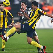 Besiktas's Roberto HILBERT (C) during their Turkish superleague soccer match Besiktas between Bucaspor at BJK Inonu Stadium in Istanbul Turkey on Friday, 21 January 2011. Photo by TURKPIX