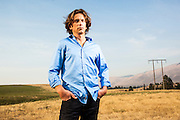Tyler Hamilton, former member of US Postal Service Cycling Team. Photographed near Missoula, Montana by Brian Smale for the Sunday Times.